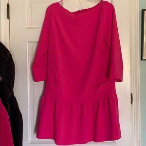 Victoria Beckham hot pink short dress.
